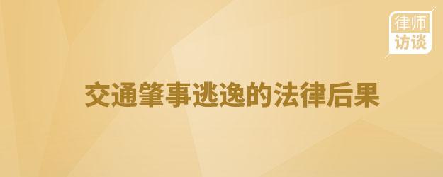 交通肇事逃逸的法律后果—劉世龍律師